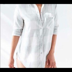 Grey&white flannel